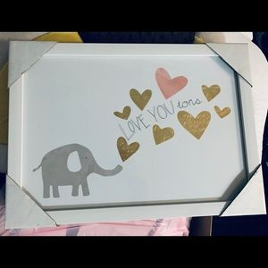 Nursery  Elephant Theme Art